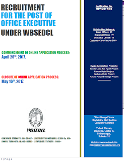 WBSEDCL Recruitment Office Executive