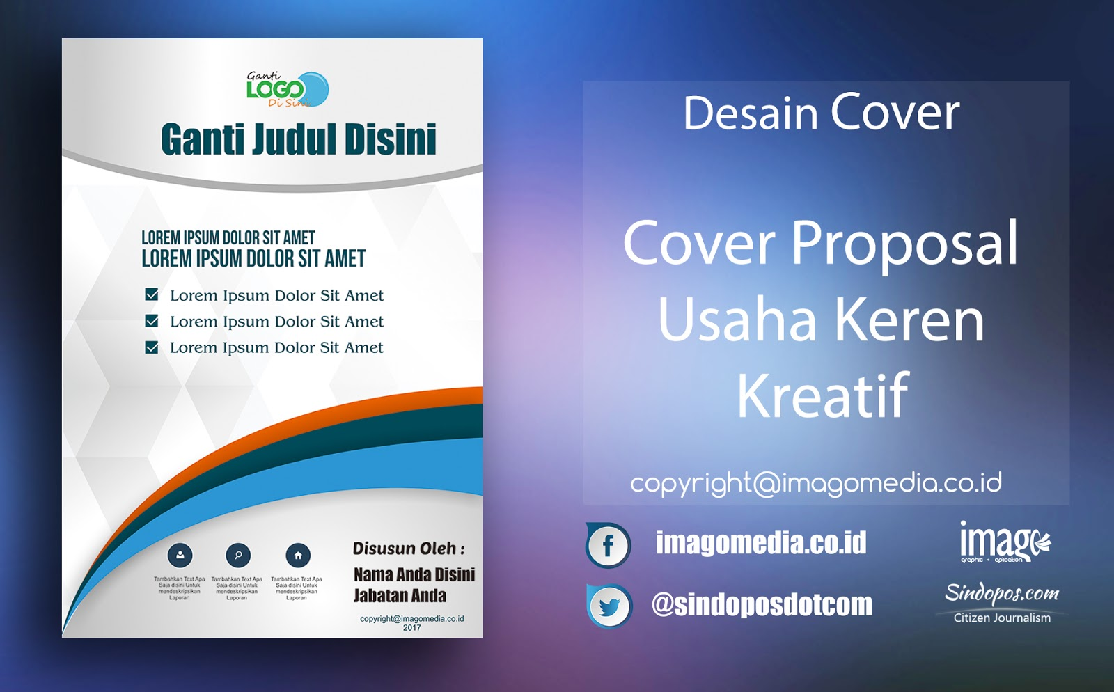 Download Template Desain Cover Proposal Usaha Keren