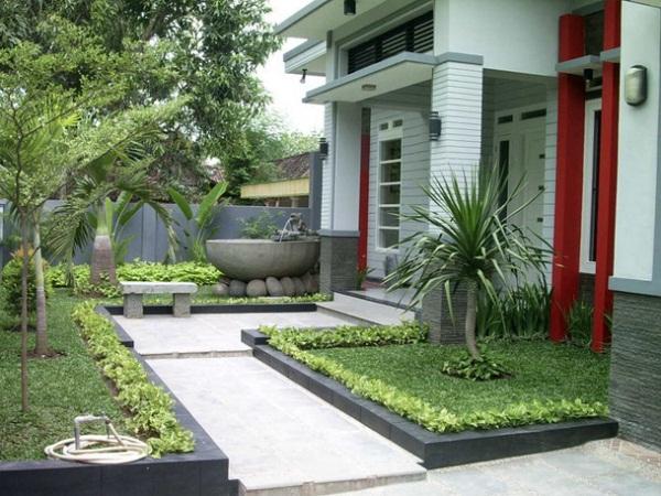 Model Desain Taman Rumah Minimalis Terbaru  Model Desain Taman Rumah Minimalis Terbaru 1 Lantai