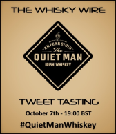 The Quiet Man Irish Whiskey Tweet Tasting