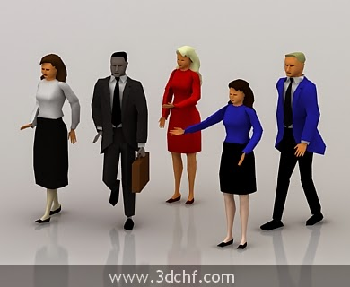 low poly people 3d model free