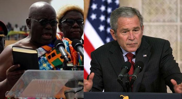 Video: Ghana president Akufo-Addo plagiarized US ex-president George Bush's speech