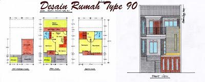 Desain Rumah Minimalis Type 90