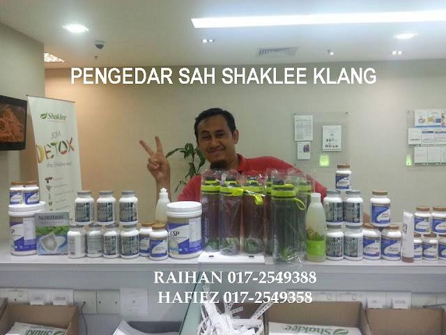 Pengedar Sah Shaklee Klang dan Port Klang Raihan 017-2549388 Hafiez 017-2549358
