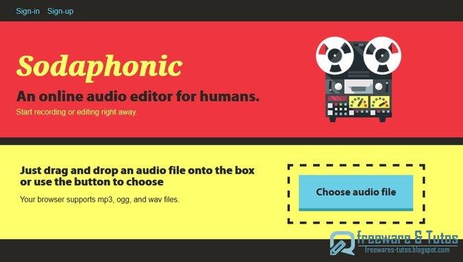 Sodaphonic un outil en ligne pour diter vos fichiers audio freewares tutos - Couper un fichier audio en ligne ...