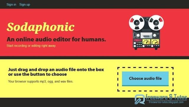 Sodaphonic : un outil en ligne pour éditer vos fichiers audio