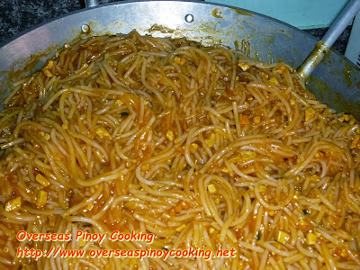 Pancit Malabon - Cooking Procedure