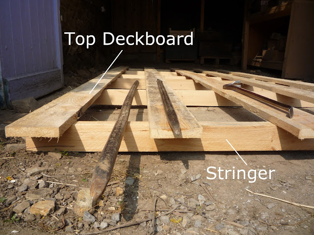 Pallet wood for making a picnic table and chairs