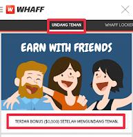 Cara registrasi kode undangan di whaff locker