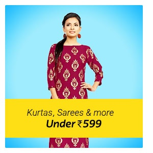 Kurta, Saree, Woman wear under Rs. 599