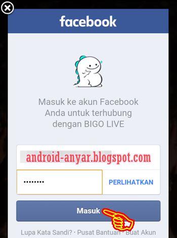 Cara Registrasi BIGO LIVE dengan akun Facebook Android