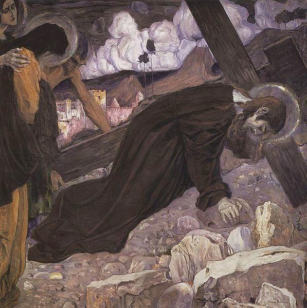 Crucificação - Pinturas de Mikhail Nesterov - (Simbolismo) Russo