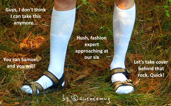 white socks N sandals (by @sciencemug)