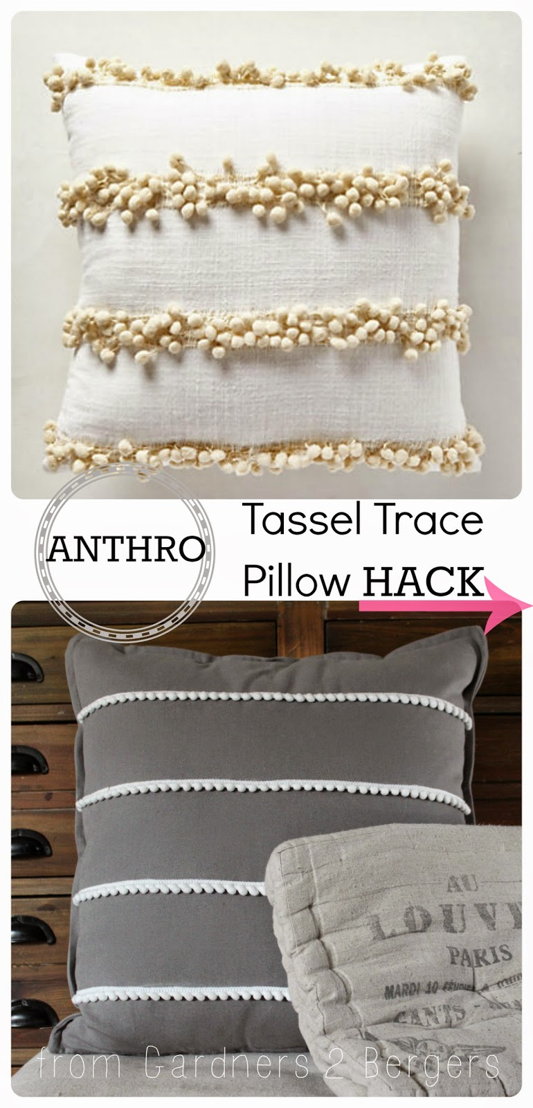 Anthro Tassel Trace Pillow [Hack]