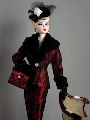 Walking Suit Barbie in ooak suit from Hunter-Goldblatt Designs