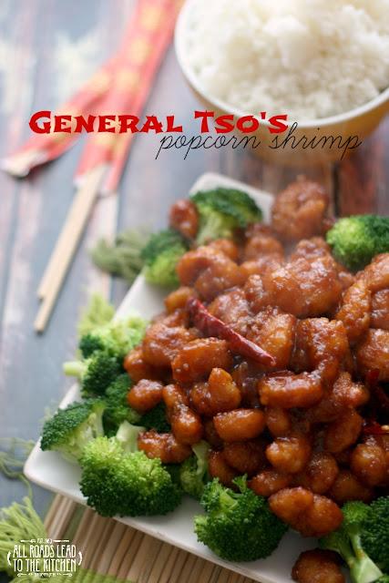 General Tso's Popcorn Shrimp