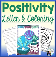 positivity letter and coloring sheets