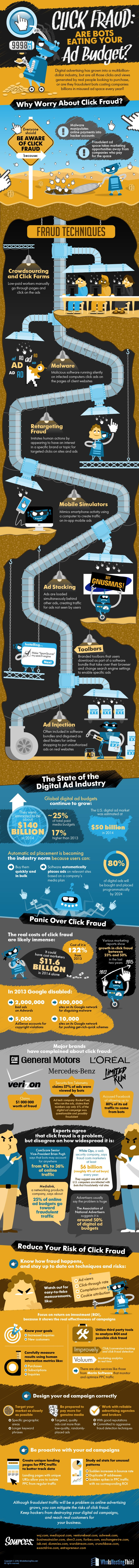 Click Fraud: Are Bots Stealing Your Ad Dollars? - #infographic
