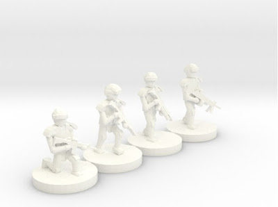 10mm Moderns on Shapeways