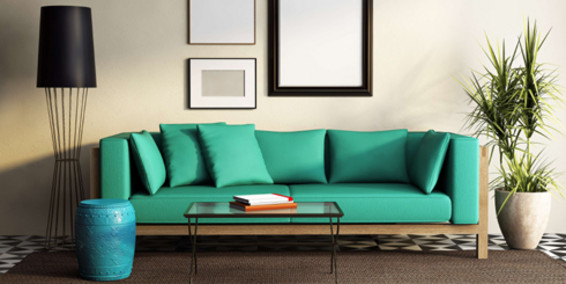 Modelos de sillones sof verde para sala Modelos de sofas para salas