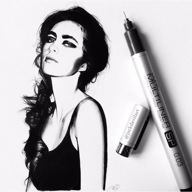 02-My-Favourite-Johanna-Jackdevilart-Portraits-and-Full-Bodied-Miniature-Drawings-www-designstack-co
