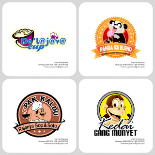 desain logo kuliner ice blend