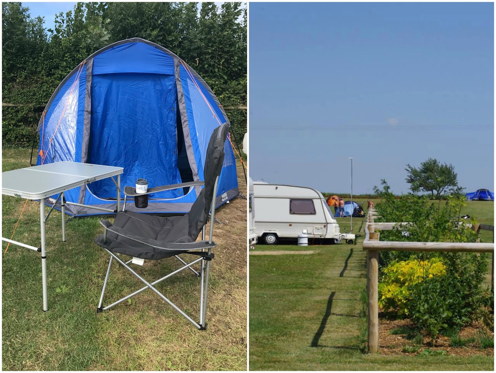 camping in Weymouth \ Bagwell Farm campsite \ tent
