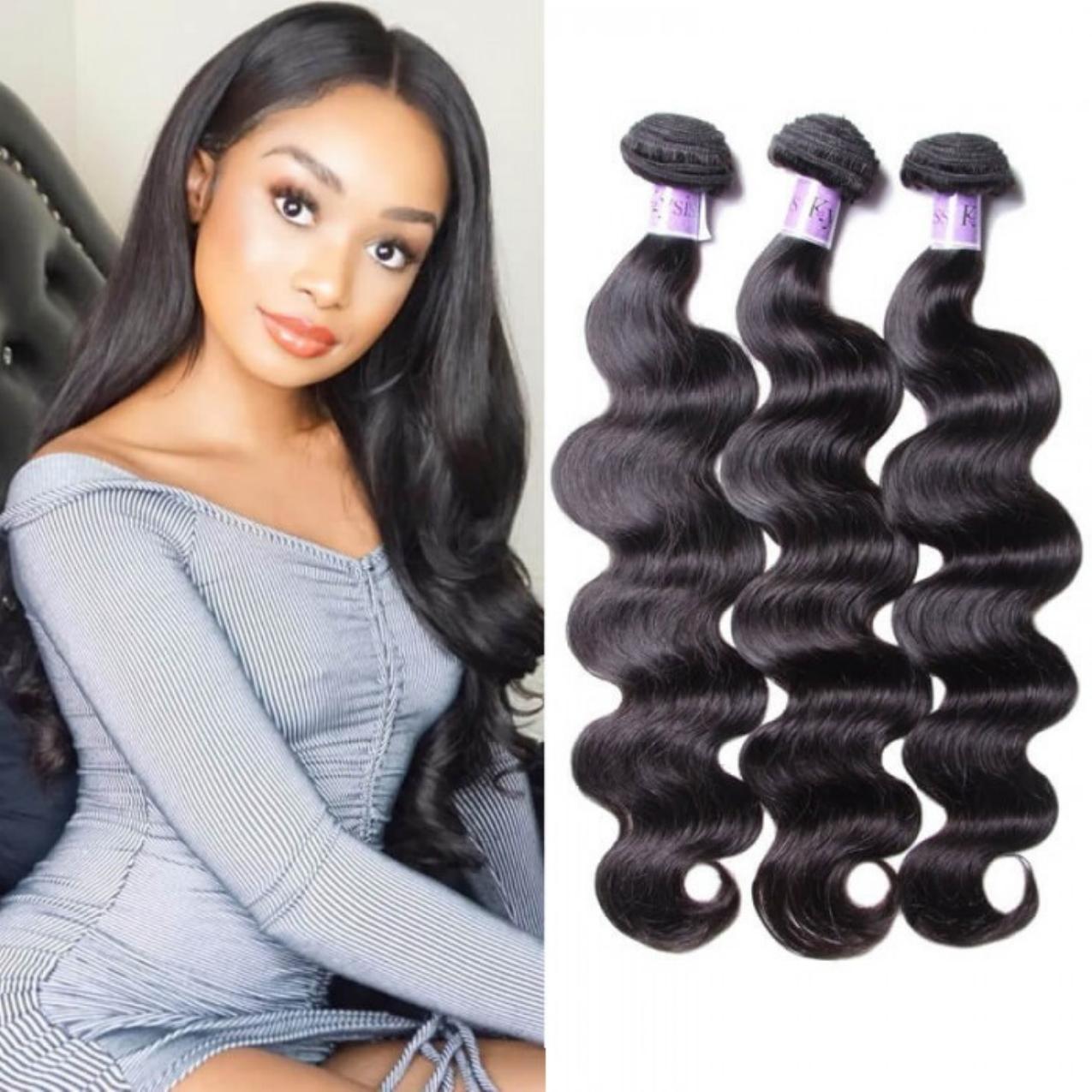 UNice Hair Kysiss Series 8A Grade Peruvian 100% Virgin Human Hair Body Wave 3 Bundles