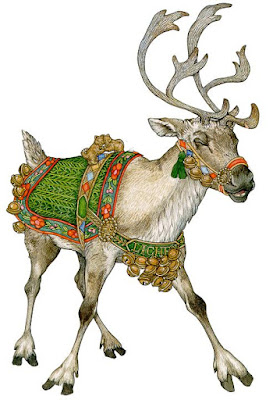 MrsQuimbyReads, reader response pages, wild christmas reindeer