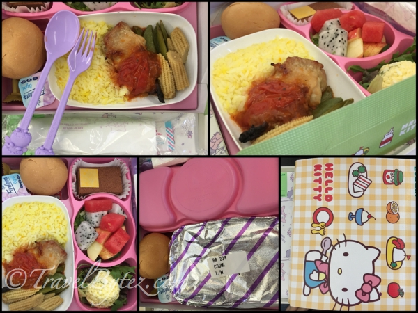 Eva Air Hello Kitty Themed Flight Food