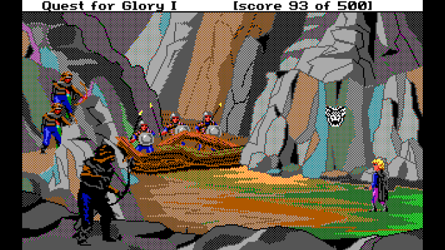 Screenshot from Quest for Glory 1 EGA