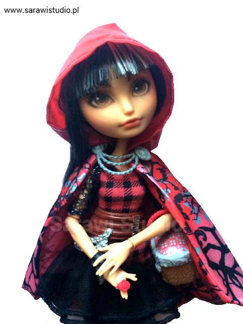 Ever after high, monster high, doll, repaint, repainting, customizing, EAH, Cerise hood, Make-up, przeróbka, lalkowa przemiana, lalka,