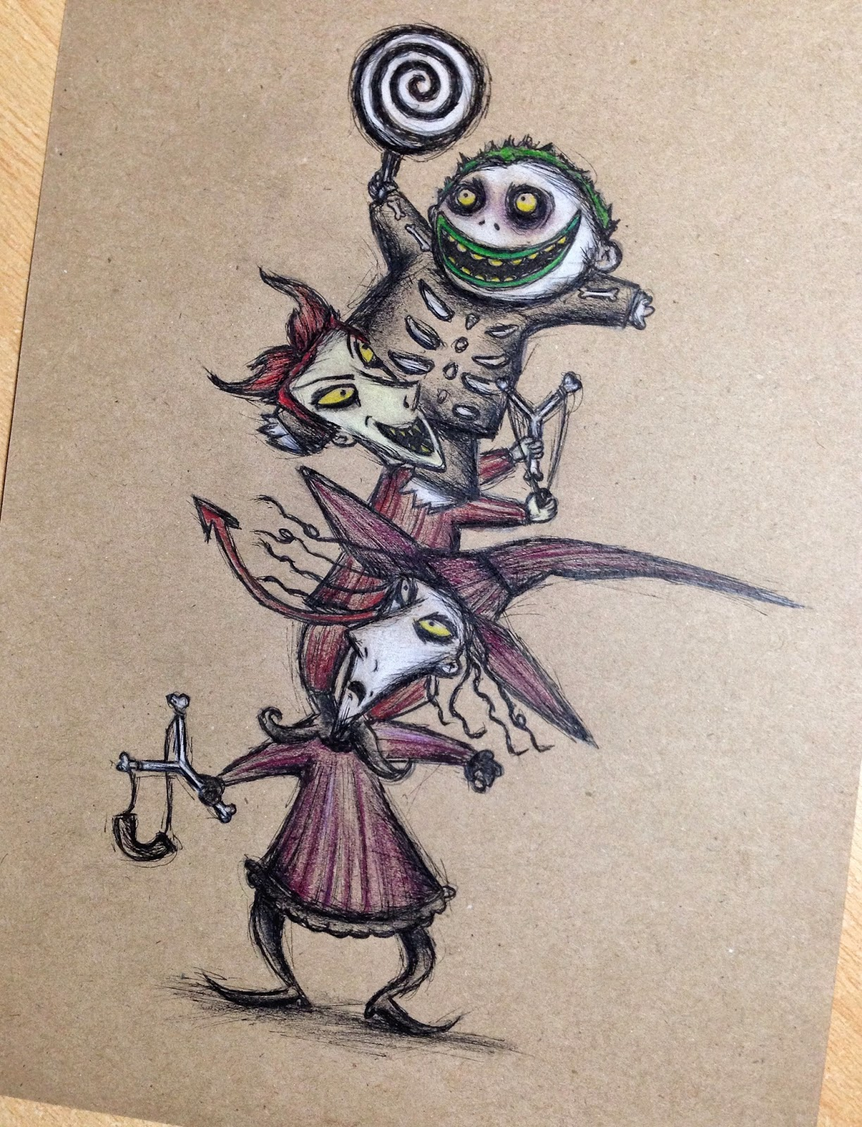 Nightmare Before Christmas Illustration.Scudge The Nightmare Before Christmas Illustrations Step