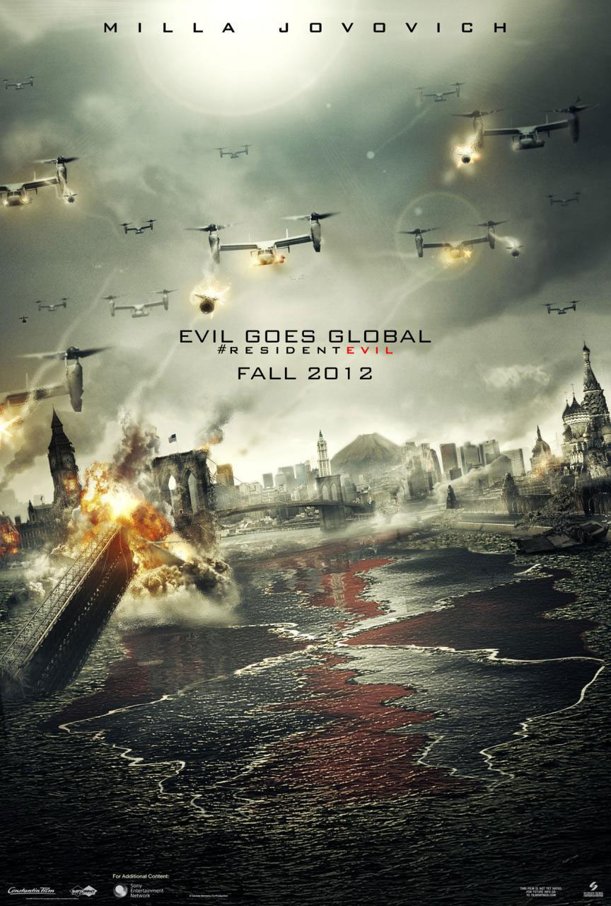Resident Evil 5 Movie Poster Teaser Trailer