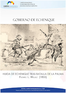 Huida de Echenique, luego de la Batalla de la Palma
