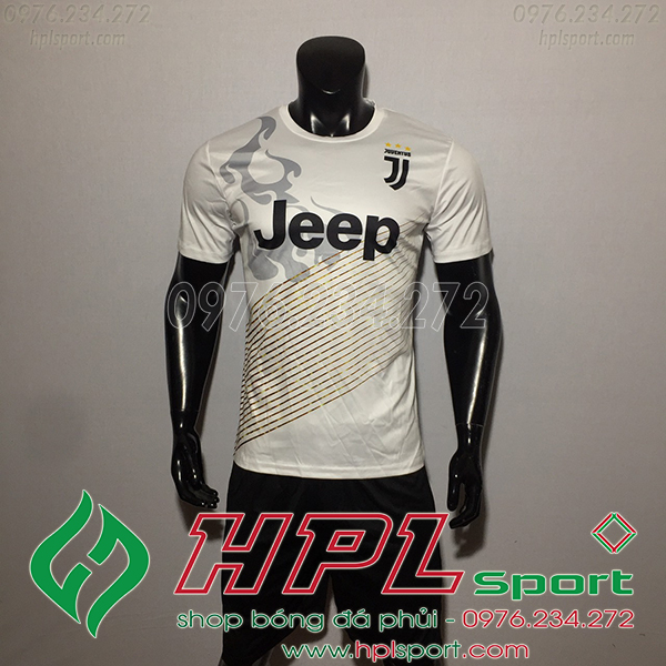 Áo bóng đá câu lạc bộ Juvetus training trắng