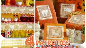 Deco Gato Crochet / patrones y muestras