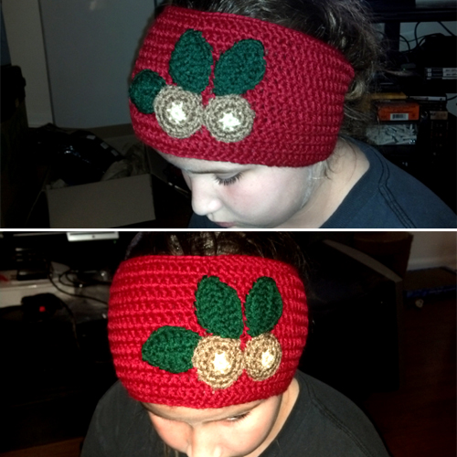Buckeye Ear Warmer - Free Pattern