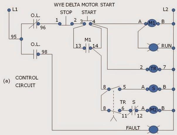 wye delta starter connection diagram