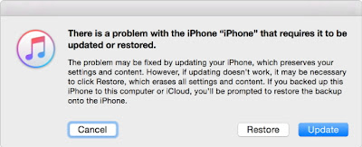 """itunes-restore iPhone / iPad won't connect to iTunes error """"unknown error 0xE8000015"""" tips"""