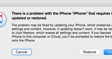 itunes could not connect to this iphone  an unknown error occurred 0xe8000015