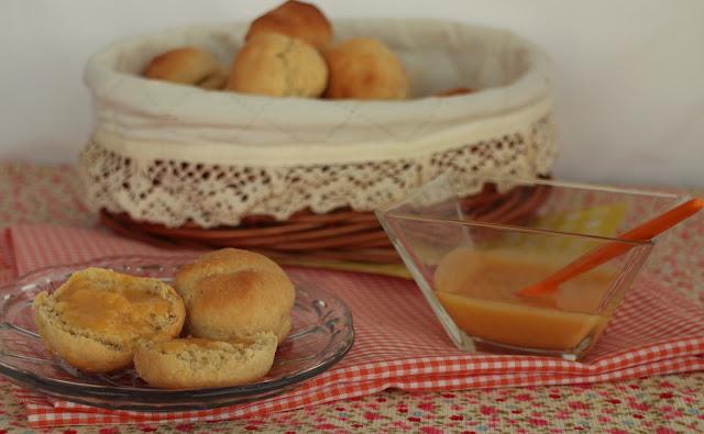 orange-curd, scones