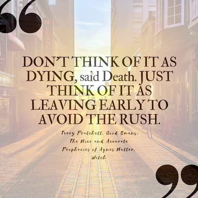 10 (Pinnable) Quotes About Death that Celebrate Life | Terry Pratchett