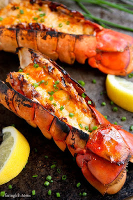 oven grilled lobster tails with sriracha butter