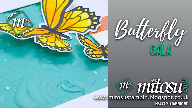 Butterfly Gala Stampin' Up! Card Idea for Paper Craft Crew Challenges. Order Cardmaking Products from Mitosu Crafts UK Online Shop 24/7