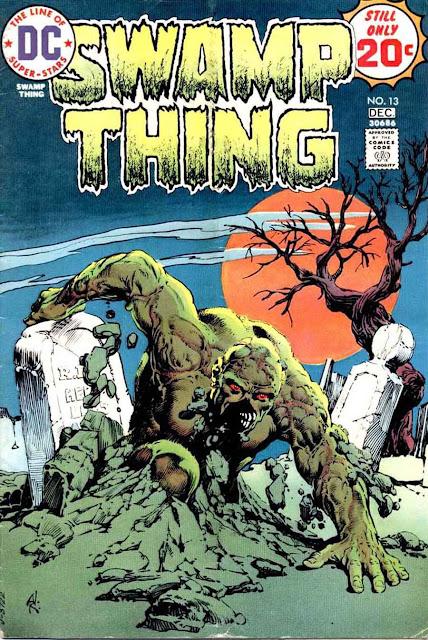 Swamp Thing v1 #13 1970s bronze age dc comic book cover art by Nestor Redondo