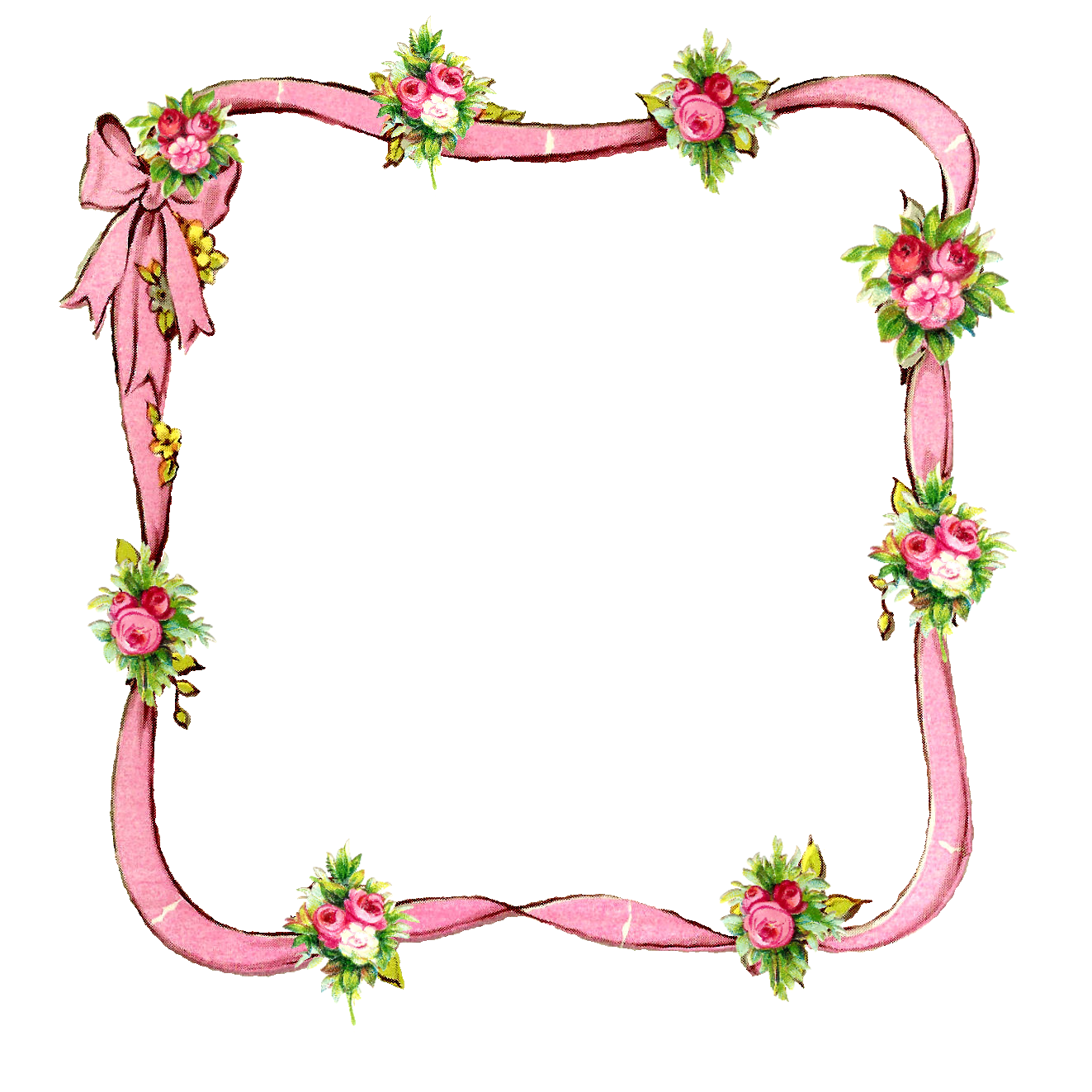 photograph about Free Printable Flower Borders known as The Graphics Monarch: Totally free Printable Do it yourself Rose Ribbon Electronic
