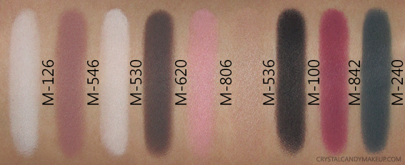 Make Up For Ever Artist Shadows Palette 4 Swatches