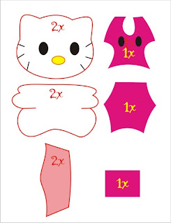 Cara Membuat Bantal Guling Tidur Lucu Hello Kitty