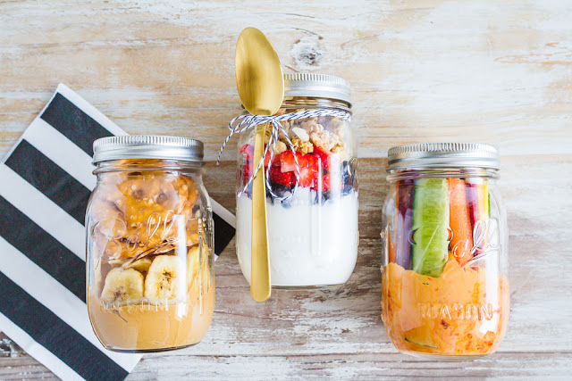 3 Healthy On The Go Snacks that take minutes to put together!  |  mynameissnickerdoodle.com